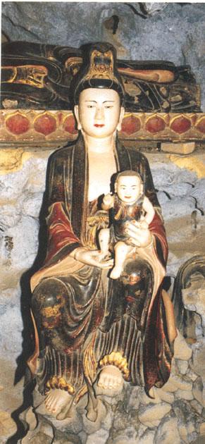 Tượng Quan Âm Đồng Tử - Chùa Sùng Nghiêm (Hà Tây)