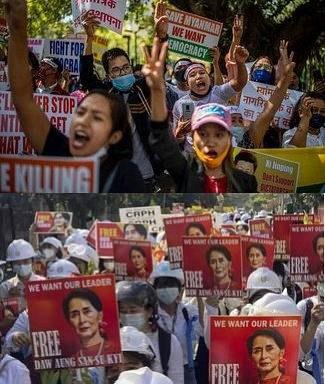 Myanmar Biểu Tình