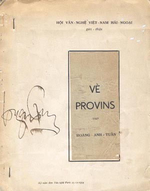 """Bìa tập thơ """"Về Provins"""""""
