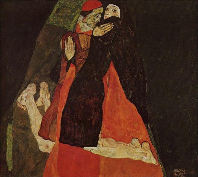 cardinal und nonne